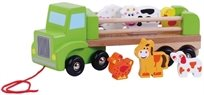משאית עם חיות הכפר