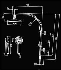 מערכת מקלחת משולבת דגם 10