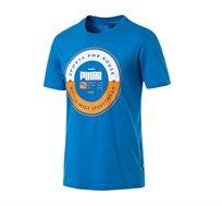 חולצת טי מודפסת דגם L85407827 לגברים - כחול