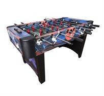 שולחן כדורגל דגם אגרסור מוטות חלולים עם ציפוי דקורטיבי כולל רגלית פילוס ושני כדורי משחק