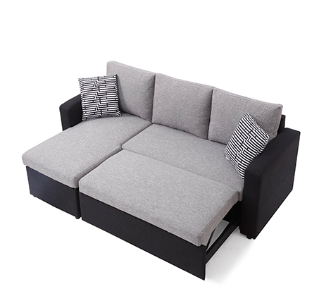 מערכת ישיבה פינתית מודולארית הנפתחת למיטה זוגית עם ארגז מצעים SIRS דגם Jacky  - תמונה 5
