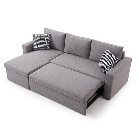 מערכת ישיבה פינתית מודולארית הנפתחת למיטה זוגית עם ארגז מצעים SIRS דגם Jacky  - תמונה 3