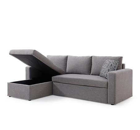 מערכת ישיבה פינתית מודולארית הנפתחת למיטה זוגית עם ארגז מצעים SIRS דגם Jacky  - תמונה 2
