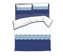 סט מצעים מפנקים ונעימים למיטה וחצי מיקרו סאטן דגם פרובנס DONNA CASA