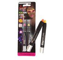 צמד עפרונות צבעי ניאון אולטרא ואיולט פורים