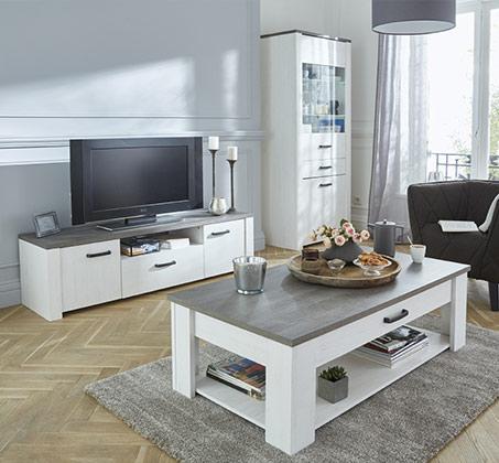 סט שולחן ומזנון סלוני דגם MARKIZ