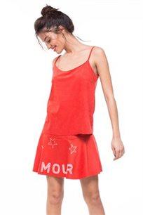 חצאית מבד סווד דגם IZABELA - צבע לבחירה