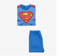 פיג'מה סופרמן OVS לילדים - כחול רויאל