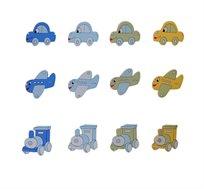 ידית עץ בצורות שונות - מכונית, מטוס וטרקטור לעיצוב חדר הילדים