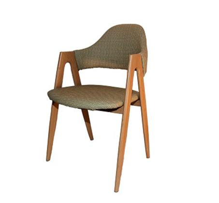 כיסא דגם yolo יציב וחזק עם משענת וידיות בציפוי דמוי עץ - תמונה 3
