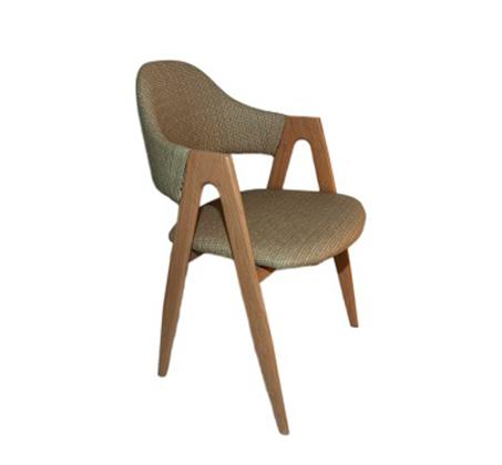 כיסא דגם yolo יציב וחזק עם משענת וידיות בציפוי דמוי עץ - תמונה 2