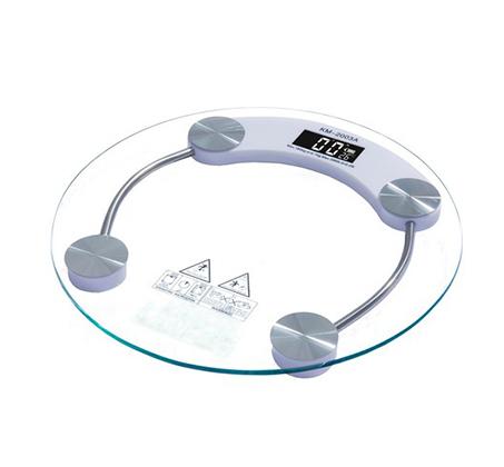 משקל אדם דיגיטלי עגול מזכוכית מחוסמת