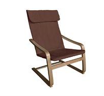 כסא משענת פריז בעל מסגרת עץ דקורטיבית