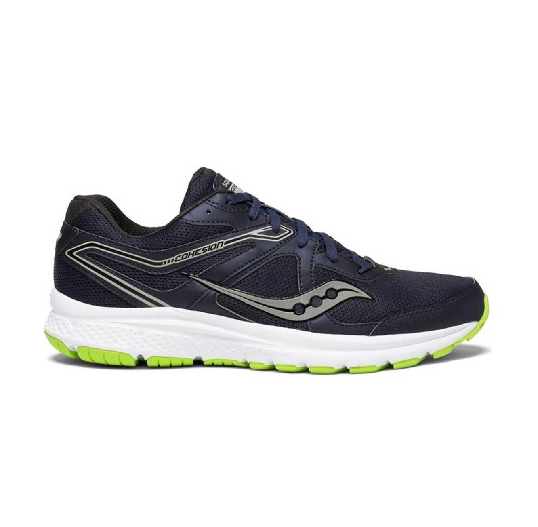 נעלי ריצה לגבר Saucony דגם רחב GRID COHESION 11 - כחול כהה