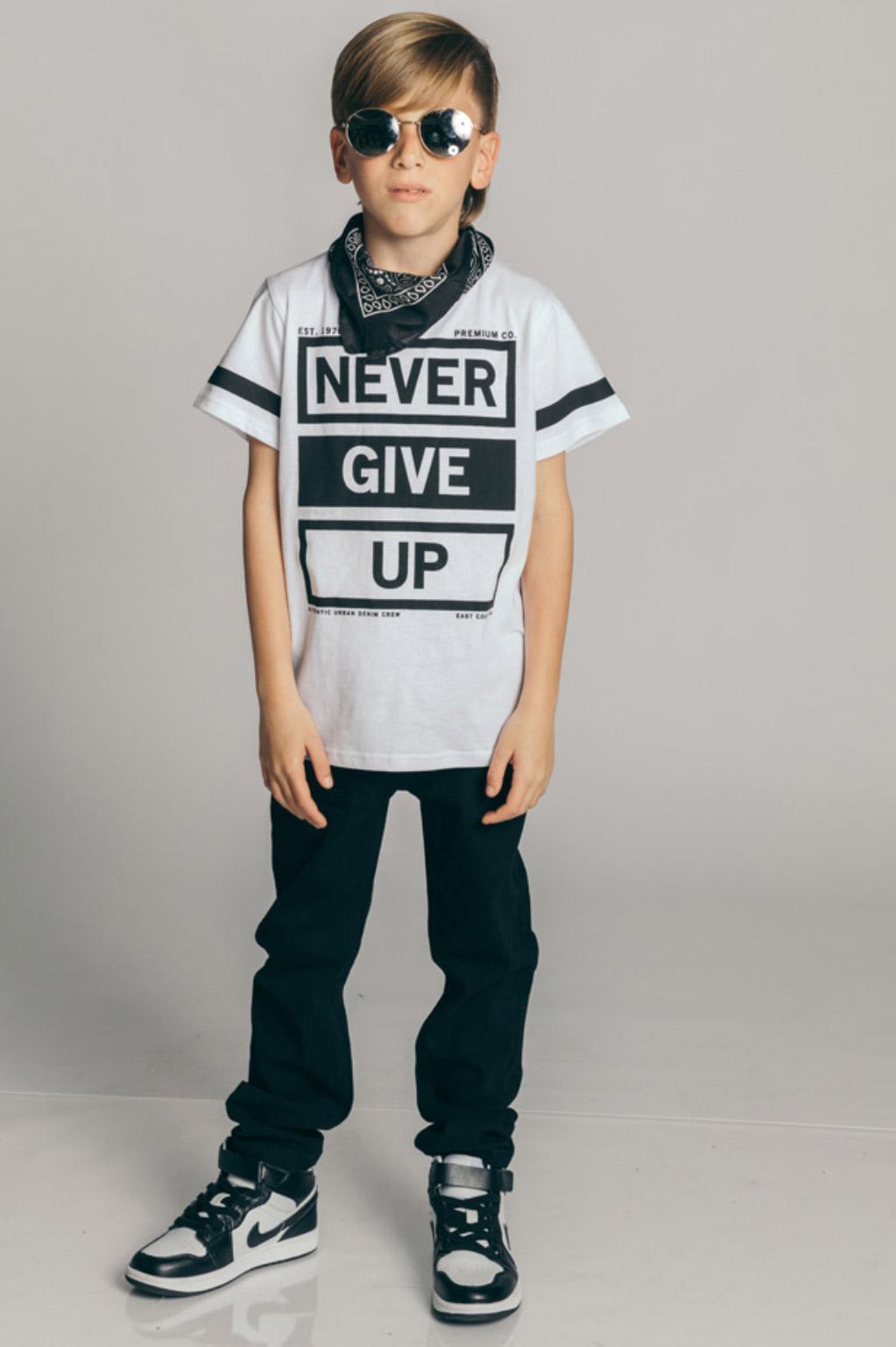 חולצת טריקו קצרה לילדים - לבן