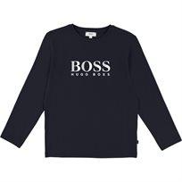 BOSS חולצה (5-8 שנים) - כחול כהה לוגו