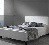 מיטה וחצי 120X190 בעיצוב איטלקי GAROX מרופדת עור איכותי ונעים דגם BLANCO  - משלוח חינם