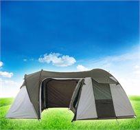 אוהל שטח ענק המחולק לחדרים מבית ALASKA, כולל חלונות אוורור ורצפה, עשוי מחומר נגד קרינה וגשם