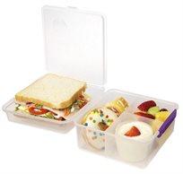 קופסא שקופה + מיכל לתוספות 2 ליטר מסדרת תיקי האוכל TO GO מבית Sistema