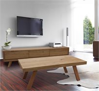 סט מזנון ושולחן מעוצב בגימור אלון דגם תומס HOME DECOR