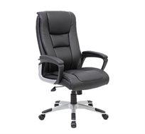 כיסא מנהלים אורטופדי מתכוונן בריפוד דמוי בכל חלקי הכסא