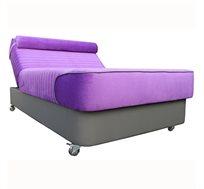 מיטה וחצי אורטופדית עם גלגלי סיליקון בצבעים לבחירה