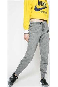 מכנסיים בגזרת סלים לנשים - אפור