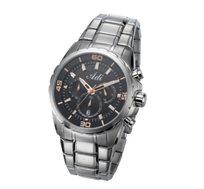 שעון יוקרתי לגבר ADI בעיצוב מתכתי העשוי מפלדת אל חלד, עמיד במים עד 100M ובעל מנגנון כרונוגרף