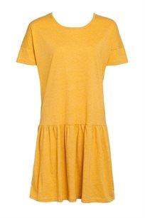 שמלת מלאנג' כתף שמוטה