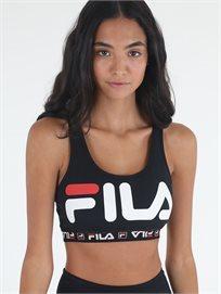 טופ פילה שחור לנשים - Fila Sport Bra Top Black