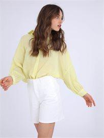 חולצה מכופתרת סקיילר צהוב סטייל ריבר