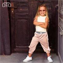 Oro/  מכנסי ניילון (2- 7 שנים) גומי ורוד