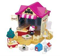 חנות חיות הלו קיטי המכילה דמות קיטי למשחק חוויתי מלא דימיון והנאה