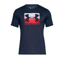 חולצת טי שרט עם הדפס Under Armour Boxed Sportstyle SS - כחול נייבי