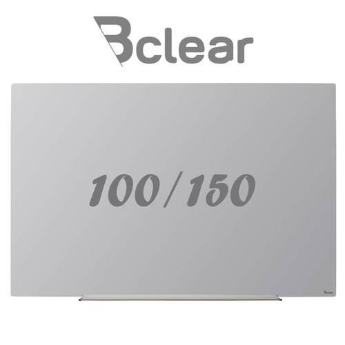 לוח מחיק זכוכית מגנטי אפור 100X150 ס''מ תליה נסתרת סדרת Invisible