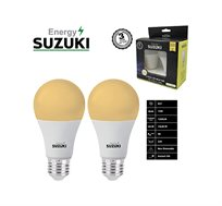 מארז 2 נורות LED 15W עבה E27 בצבעים לבחירה SUZUKI Energy