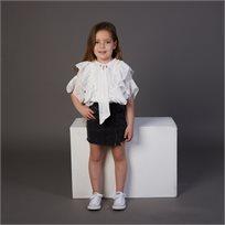 חולצת ORO לילדות (מידות 2-7 שנים) לבן