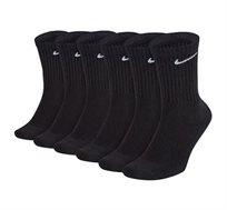 שישיית גרבי Nike לגברים בצבע שחור