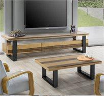 מערכת לסלון הכוללת סט מזנון ושולחן בעיצוב מודרני דגם וודסטוק
