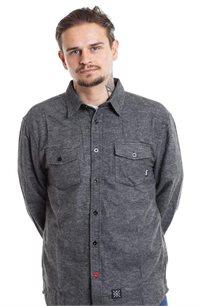 חולצת פלאנל SUPPLY - אפור