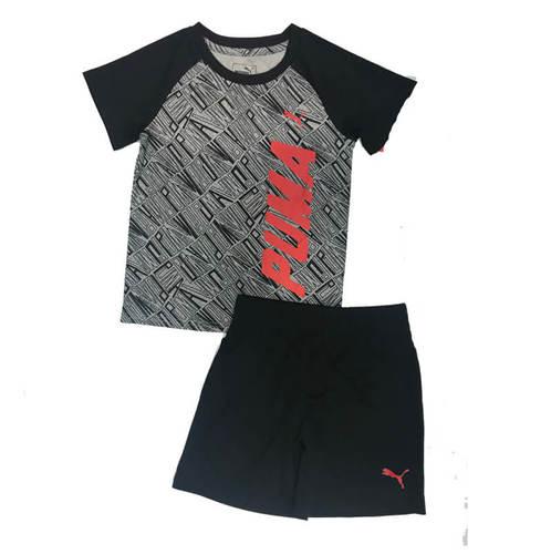 Puma /חליפה (0-12 חודשים)- שחור אדום