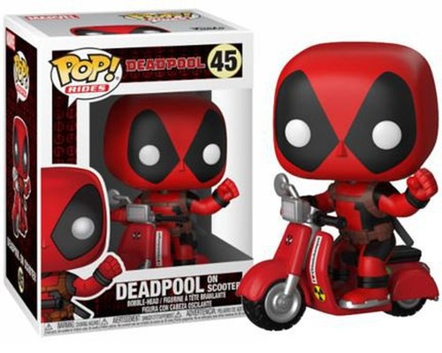 Funko Pop - Deadpool On Scooter (Deadpool) 45 בובת פופ דדפול - תמונה 1