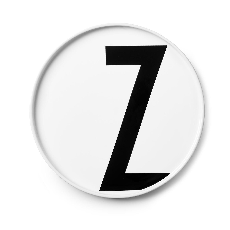 Design Letters// Aj Porcelain Plates Z