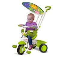 לומדים בשלבים! תלת אופן רב שלבי Fisher Price Classic, עם מושב מרופד, כידון נשלט וצילון לתינוק