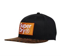 כובע מצחייה לגברים - שחור/מנומר