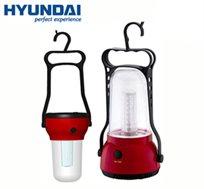 פנס חירום נישא ונטען מבית HYUNDAI עם 24 נוריות LED ב-2 דגמים לבחירה, מתאים לטיולים, קמפינג ולבית