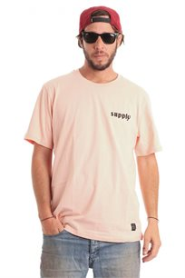 חולצת טי לגברים SUPPLY בצבע אפרסק