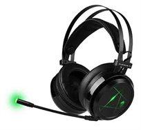 אוזניות גיימינג פרימיום Dragon איכותיות מיקרופון מובנה עם נורת LED מתאים ל PC / PS4 לחיבור USB בלבד