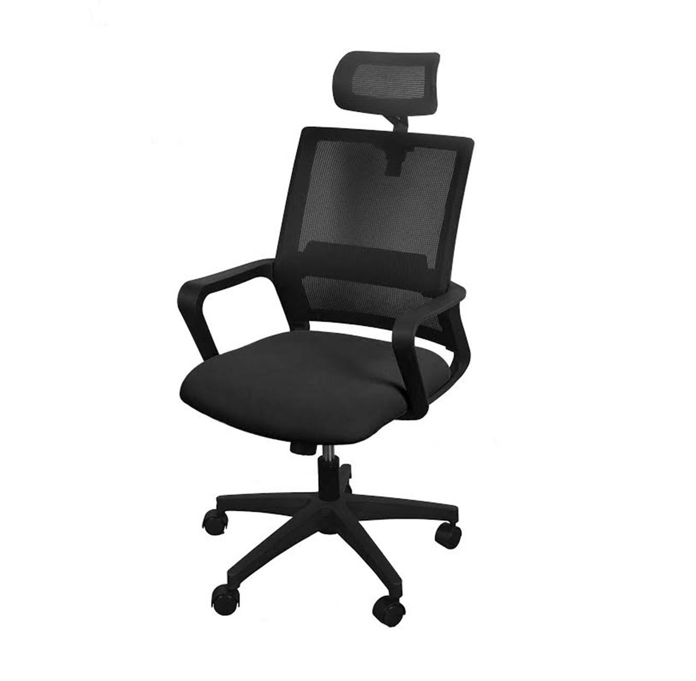 כסא משרדי בעל משענת ראש כולל מנגנון הגבהה ונדנוד