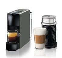 מכונת קפה Nespresso Essenza Mini בצבע אפור דגם C30 כולל מקציף חלב ארוצ'ינו